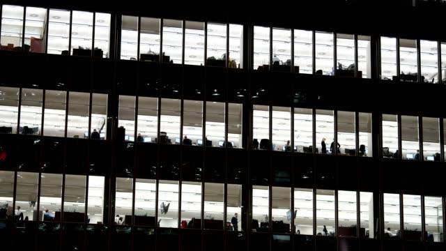 Büro business-Gebäude in London, England-timelapse