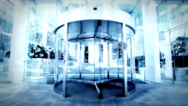 office commuters - revolving door stock videos & royalty-free footage