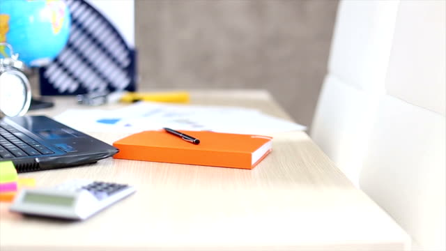office desk best off - note pad stock videos & royalty-free footage