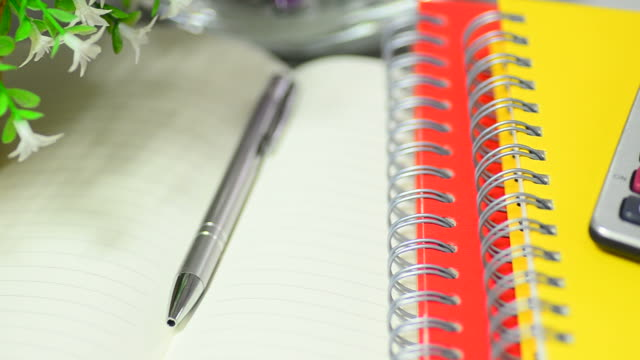 office desk equipment for work - note pad stock videos & royalty-free footage