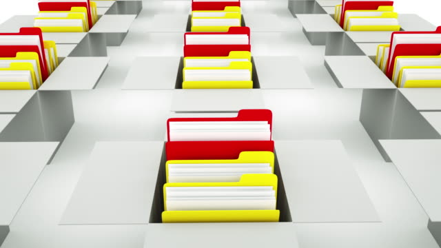 office document folders and cardboard boxes - filing documents stock videos & royalty-free footage