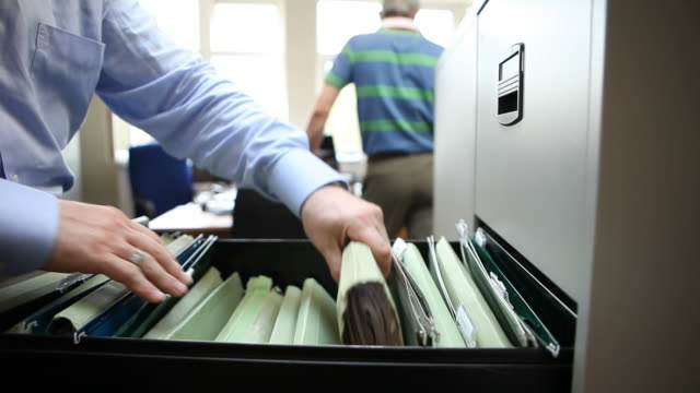 office filing - filing cabinet stock videos & royalty-free footage