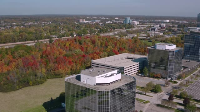office park - office block exterior stock videos & royalty-free footage