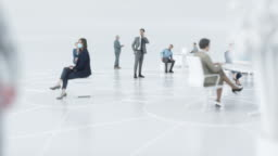 Office social distancing, slide