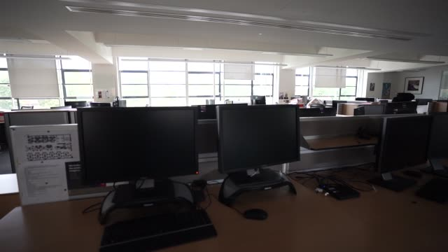 office space sits empty since a nationwide lockdown in march on august 17, 2020 in london, england - office stock videos & royalty-free footage