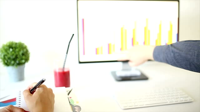 office team works on a graph chart - form of communication stock videos & royalty-free footage