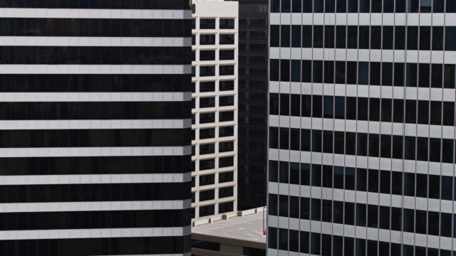 office tower aerial abstract - century city stock videos & royalty-free footage