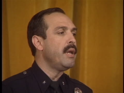 officer david gascon says oj simpson is in custody and has been transported to parker center and being booked and processed, which will include... - verbrecherfoto stock-videos und b-roll-filmmaterial