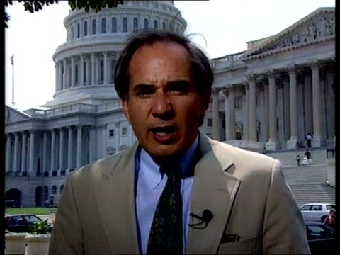 usaf officers accused of spying england london itn washington cms congressman robert torricelli intvw sot at a potentially dangerous point in chinese... - sensory perception stock videos & royalty-free footage