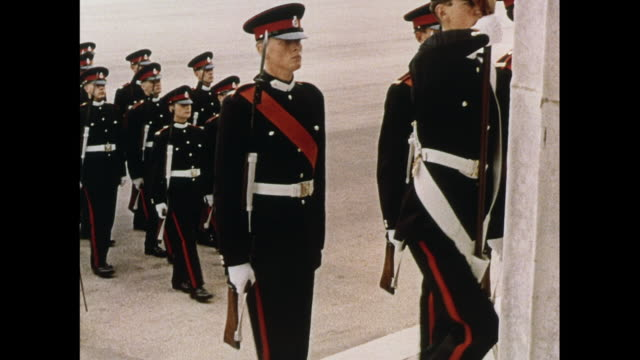 montage officers conclude passing out military parade in united kingdom - cadet stock videos & royalty-free footage
