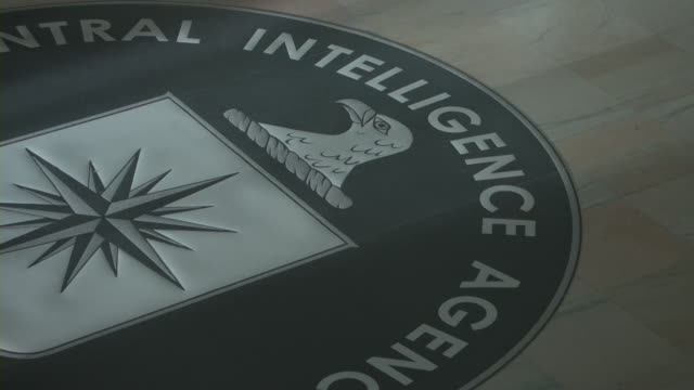 officers walking at the cia headquarters in langley. - logo stock videos and b-roll footage
