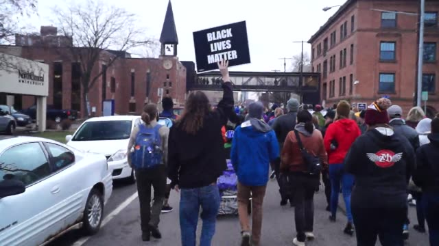 officers weren't charged in jamal clark case sparking a black lives matter protest that shut down the 1600 block of plymouth avenue in north... - black civil rights stock videos & royalty-free footage