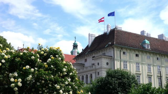 offices of the federal president austria - the hofburg complex stock videos & royalty-free footage