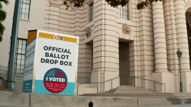 official ballot drop box - town hall stock videos & royalty-free footage
