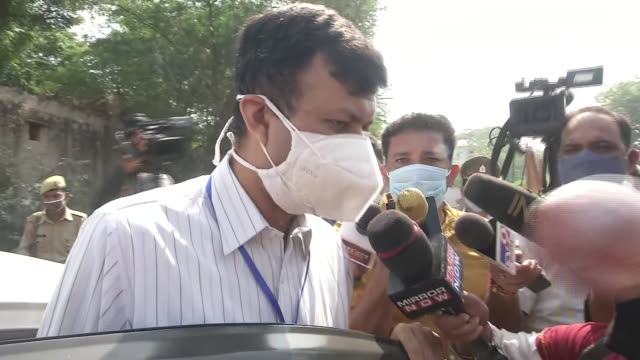 """official byte from the special investigation team looking into the hathras rape case. sit team official said """"we have to take few more statements, we... - byte stock videos & royalty-free footage"""