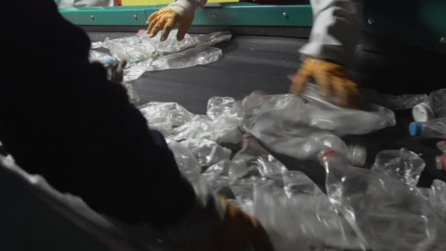 official recycling plant in turkey, recycling plastic waste from the uk - turkey middle east stock videos & royalty-free footage