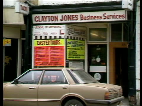 iba ban c4 documentary on alleged phone tapping by mi5 itn lib wales pontypridd ms exterior 'clayton jones business services' ms side of coach... - the strand london stock videos and b-roll footage