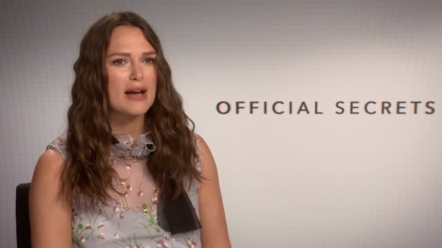'official secrets' junket interview with keira knightley knightley talks about why she wanted to make the film and how she didn't question her... - whispering stock videos & royalty-free footage