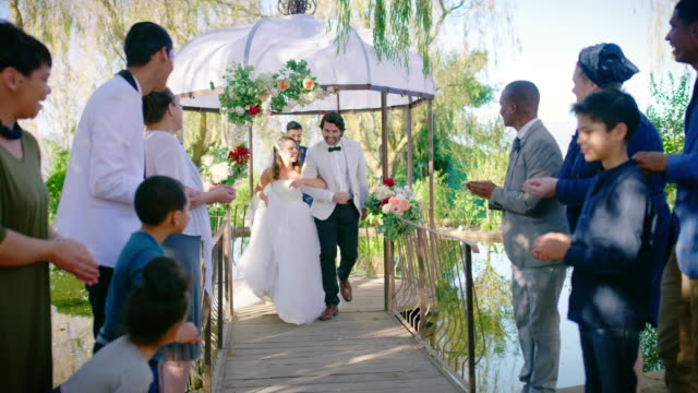 officially mr and mrs - gazebo stock videos & royalty-free footage