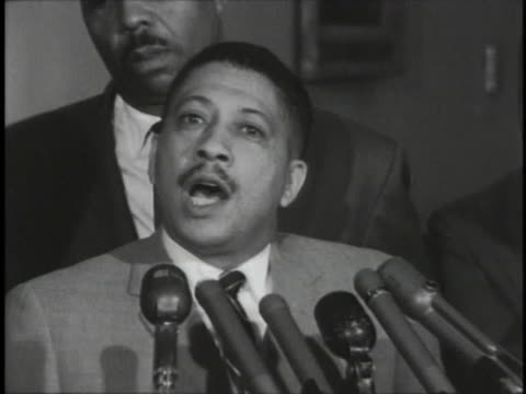 officials give a speech after meeting with attorney general robert f. kennedy. - naacp stock videos & royalty-free footage