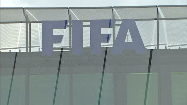 officials held on corruption charges in switzerland showing clean exterior shots fifa headquarters fifa hq buildings on may 27 2015 in zurich... - fifa stock videos & royalty-free footage