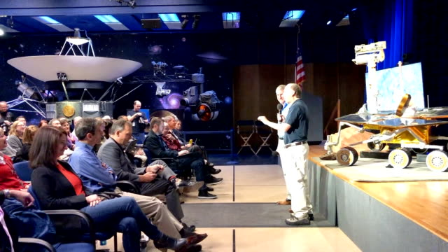 officials hold a press conference discussing the completion of the mars rover opportunity mission on february 13, 2019 in pasadena, california.... - opportunity stock videos & royalty-free footage
