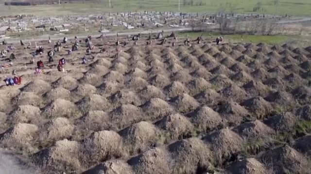 officials in the eastern ukrainian city of dnipro have divided public opinion by preparing more than 600 graves for coronavirus victims ahead of... - place concerning death stock videos & royalty-free footage