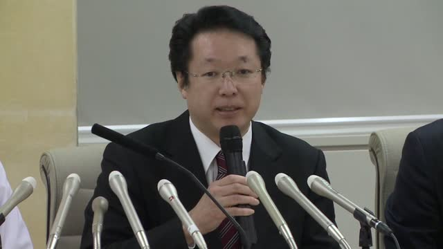 officials of two tokyo hospitals hold a press conference in tokyo on jan. 29 to talk about the health conditions of five japanese nationals sent to... - homecoming stock videos & royalty-free footage