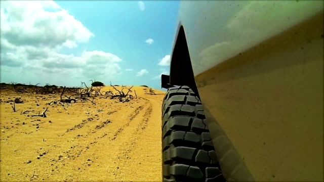 HD Off-road 4wd vechcle driving on sand dunes