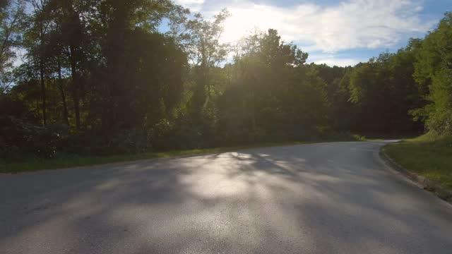 vidéos et rushes de conduite hors route à travers les bois. perspective personnelle - caméra portable