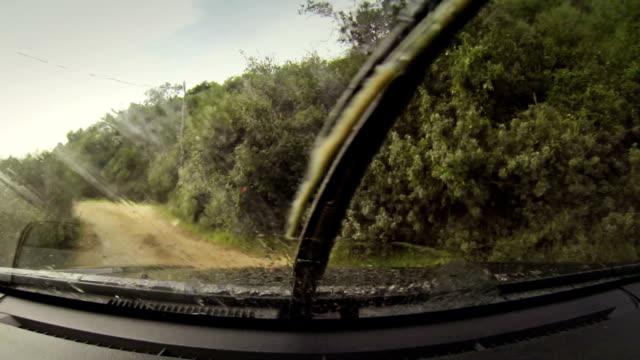 オフロード車車載カメラ - 未舗装点の映像素材/bロール