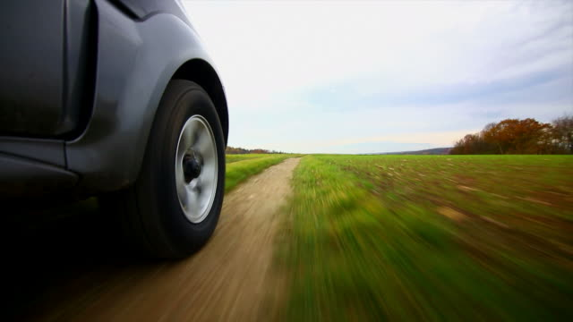 Off-road Vehicle Driving Through Cropland POV