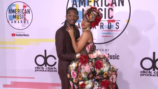 Offset and Cardi B at the 2018 American Music Awards at Microsoft Theater on October 09 2018 in Los Angeles California