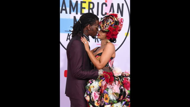 offset and cardi b attend the 2018 american music awards at microsoft theater on october 09 2018 in los angeles california - american music awards stock videos & royalty-free footage