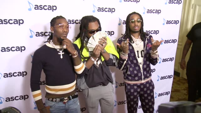 Offset Takeoff and Quavo at the 2018 ASCAP Rhythm Soul Music Awards