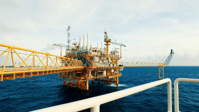 offshore living on the sea - oil rig stock videos and b-roll footage
