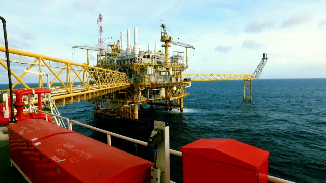 offshore living on the sea - gas stock videos and b-roll footage