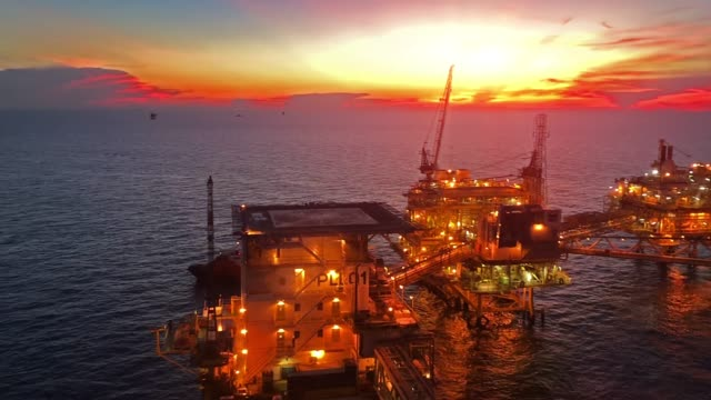 offshore oil and gas platform - crude oil stock videos & royalty-free footage