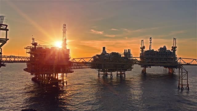 offshore oil and gas platform - drill stock videos & royalty-free footage