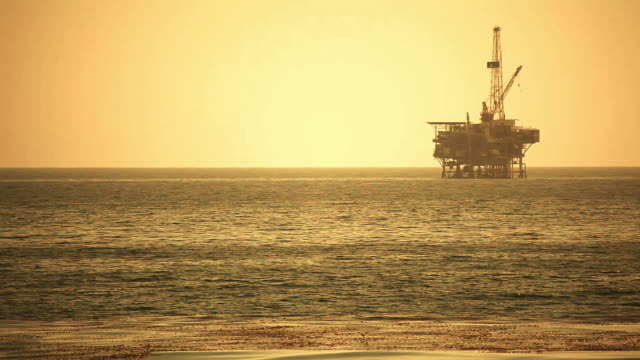 offshore oil rig drilling platform - pacific coast - drilling rig stock videos and b-roll footage
