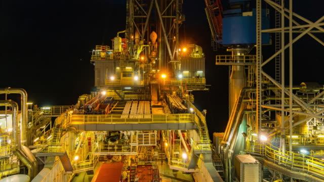 offshore olja rigg - kantilever bildbanksvideor och videomaterial från bakom kulisserna