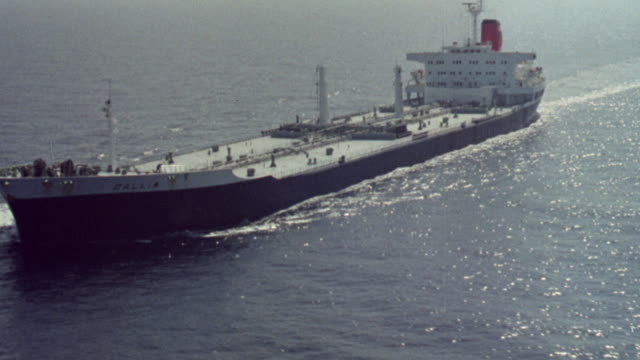1973 montage offshore oil rigs and oil tankers / united kingdom - 1973 stock videos & royalty-free footage