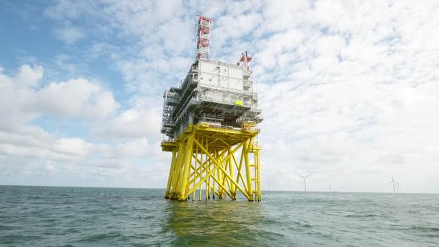 offshore wind farm in sea - north sea stock videos & royalty-free footage