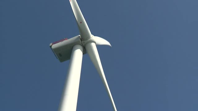 offshore wind farm in the north sea - renewable energy stock videos & royalty-free footage