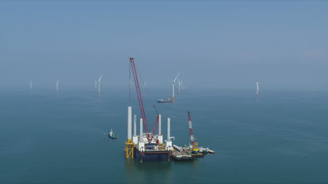 vidéos et rushes de offshore wind power test site / gochang-gun, jeollabuk-do, south korea - paysage marin