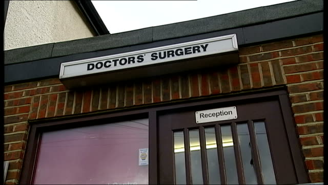 Ofstedstyle ratings to be introduced for GP surgeries INT Patients queue at receptioin desk in GPs surgery Doctors' Surgery sign at entrance door INT...