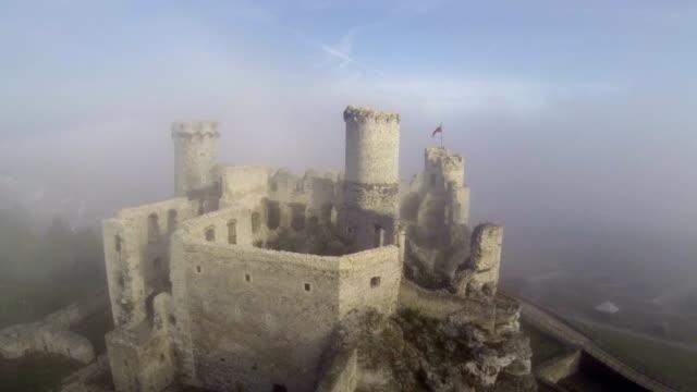 ogrodzieniec castle situated north of krakow/ pozdzamcze/ poland - poland stock videos and b-roll footage