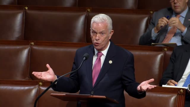 ohio congressman bill johnson argues that it blows his mind to look at lines from the other side that the republican bad budget is a bad deal for... - joint chiefs of staff stock videos and b-roll footage