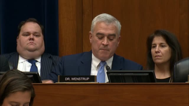 ohio congressman brad wenstrup explains that a hearing with acting director of national intelligence joseph maguire about a whistleblower complaint... - breaded stock videos and b-roll footage