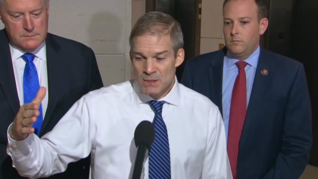 ohio congressman jim jordan is asked by a reporter outside a private interview with deputy assistant secretary of state george kent whether behavior... - testimony stock videos & royalty-free footage